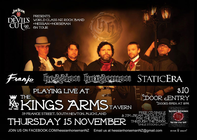 Static Era at Kings Arms, Auckland 15 November 2012..