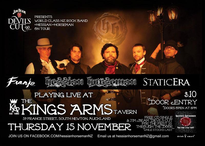 Static Era at Kings Arms, Auckland 15 November 2012..